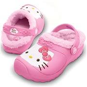 Kids Crocs Hello Kitty Lined Custom Clog