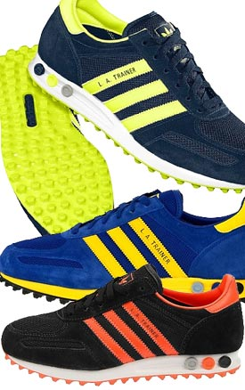 Adidas La Trainer Blue And Yellow