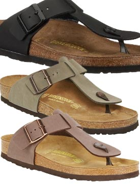 Classic Fit Birkenstock Medina Birko Flor Tong Tong Brown Leather