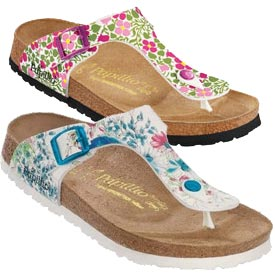 Birkenstock Florida by Papillio Shoes Kaleidoscope White for Women