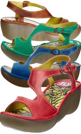 Fly London Bianca, Women's Wedge Heel Sandals
