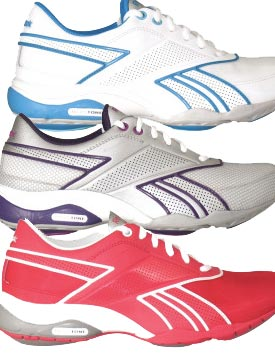 example colour combinations Reebok TrainTone Anthlin