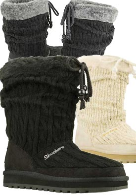 skechers knit boots