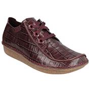 Clarks Funny Dream Burgundy Leather