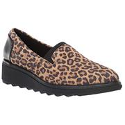 Clarks Sharon Dolly Tan Leopard Suede