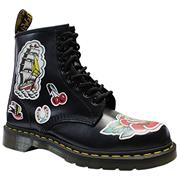 Dr Martens 1460 Boots White Backhand/Tattoo Asia