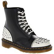 Dr Martens 1460 Boots Dai - White Black Cristal