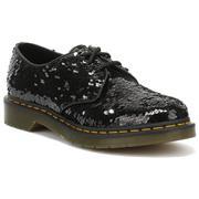 Dr Martens 1461 Shoes Sequin - Black/Silver