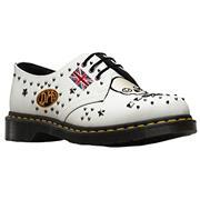Dr Martens 1461 Shoes Rockabilly - White