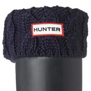 Hunter Kids Cable Cuff Welly Socks