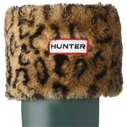 Hunter Kids Leopard Print Cuff Welly Socks