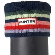 Hunter Kids Striped Cuff Welly Socks