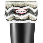Hunter Zig Zag Striped Cuff Welly Socks