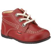 Infant Kickers Kick Hi Red/Cream