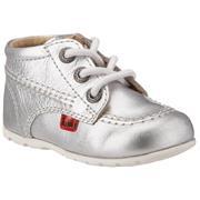 Infant Kickers Kick Hi Silver/White