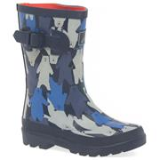 Joules Camo Bear Welly