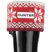 Kids Hunter Fair Isle Cuff Welly Socks