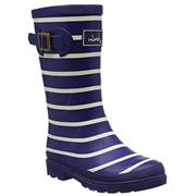 Kids Joules Welly French Navy Stripe