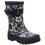 Kids Joules Welly French Navy Ria Ditsy