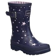 Kids Joules Welly French Navy Star