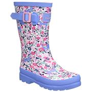 Kids Joules Welly Kitty Ditsy