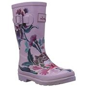 Kids Joules Welly Lilac Chinoiserie Floral