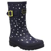 Kids Joules Welly Navy Stars