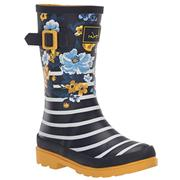 Kids Joules Welly Navy Botanical
