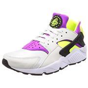 Nike Air Huarache White/Black/Neon Yellow