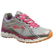 d4f52e80502 Womens Brooks Defyance Defyance 9 - Silver Charcoal Paradise Pink